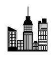 silhouette buildings skyline skyscrapers vector image