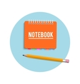 Notebook and pencil vector image vector image