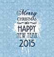 Grunge Christmas and New Year background vector image vector image