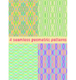 4 seamless geometric patterns vector image