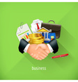 Business and partnership flat design Set vector image