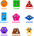 Basic Geometric Shapes with Cartoon Faces vector image vector image