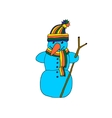 fun snowman isolated vector image