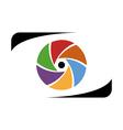 Abstract photographer logo work vector image