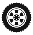 one tire icon simple style vector image