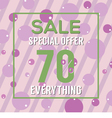 Special Offer 70 Percent On Colorful Green Bubbles vector image