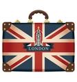 suitcase with Big Ben vector image