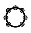 tambourine icon black sign vector image
