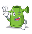 two finger watering can character cartoon vector image