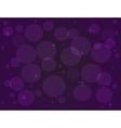 with bokeh effect in purple tones vector image