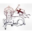 Lamb of God Christian Symbol vector image