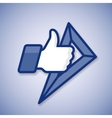 School Thumbs Up symbol icon with ruler vector image