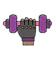 dumbbells icon imag vector image
