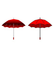 Cartoon red umbrella vector image