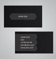 Dark business card template vector image