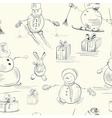 snowman wallpaper vector image vector image