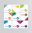 Modern banner button with social icon design optio vector image