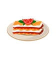 Waffle with Tomato vector image