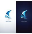 sailboat 2 vector image