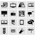 black advertisement icon set vector image