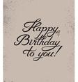 Calligraphic retro Birthday Card vector image
