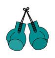 color image set boxing gloves sport element vector image