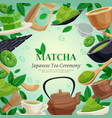 matcha tea ceremony background poster vector image