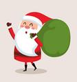 merry christmas santa character vector image