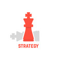 red chess king with fallen figure vector image
