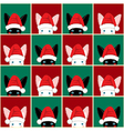 Black White Rabbit Chess board Christmas vector image