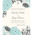 Invintation floral card vector image vector image