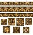 set collections of old greek ornaments golden vector image