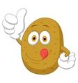 Cute potato cartoon thumb up vector image vector image