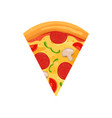 pizza slice sign cartoon vector image