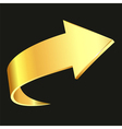 Gold arrow vector image