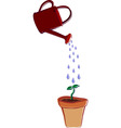 watering can and pot vector image