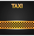 taxi cab background vector image vector image