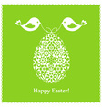 green greeting card vector image