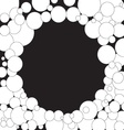 Bubbles background Black and white vector image