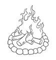 bonfire coloring book vector image