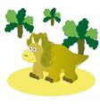 Brown dinosaur Triceratops vector image