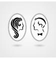 Elegant lady and gentleman symbol vector image