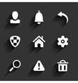 Flat application icons vector image