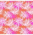 Hand drawn seamless pattern with chrysanthemum vector image