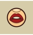 Woman Mouth with Teeth and Lips vector image