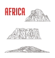 Historic landmarks and sightseeings of Africa vector image