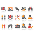 Job and human resource Icons set vector image vector image