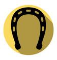 horseshoe sign   flat black vector image