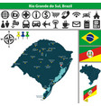 map of rio grande do sul brazil vector image