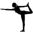 woman doing yoga silhouette vector image